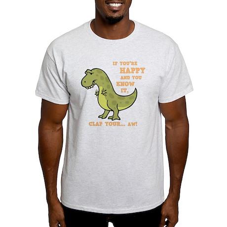 t-rex-clap-2-DKT Light T-Shirt