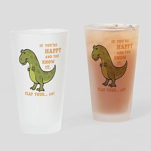 t-rex-clap-2-DKT Drinking Glass