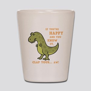 t-rex-clap-2-DKT Shot Glass
