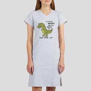 t-rex-clap-2-LTT Women's Nightshirt