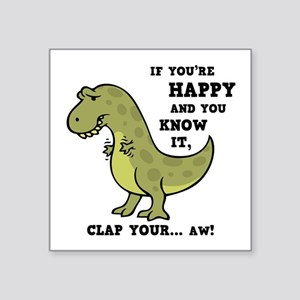 funny t rex stickers cafepress
