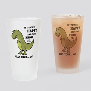 t-rex-clap-2-LTT Drinking Glass