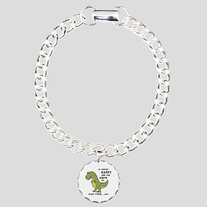 t-rex-clap-2-LTT Charm Bracelet, One Charm
