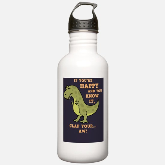 t-rex-clap-BUT Sports Water Bottle