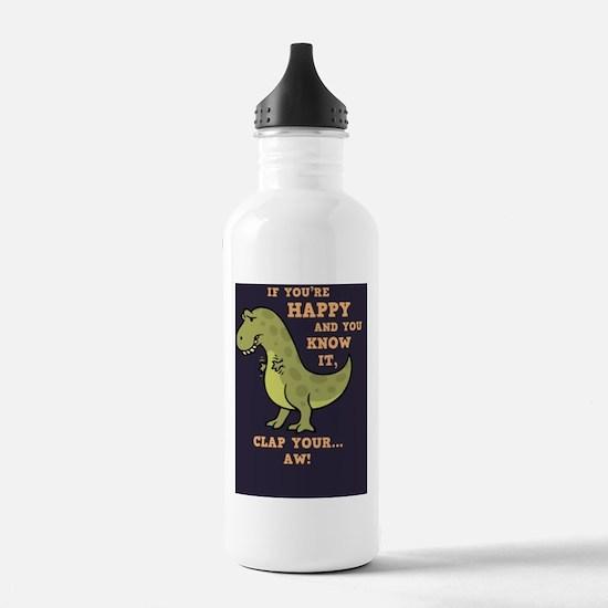 t-rex-clap-BUT Water Bottle