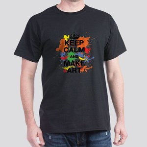 Keep Calm and Make Art Dark T-Shirt