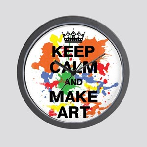 Keep Calm and Make Art Wall Clock