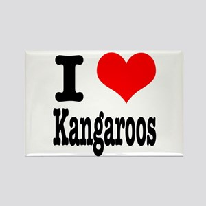 I Heart (Love) Kangaroos Rectangle Magnet