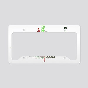 Mood Boost Fun Logo License Plate Holder