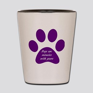 purple dogs are miracles  Shot Glass