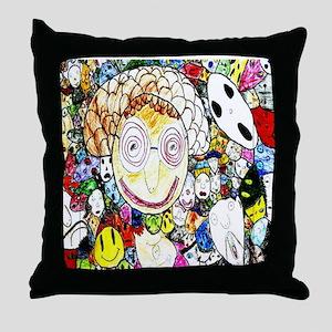 MILLIONS OF FACES - SEAN ART Throw Pillow