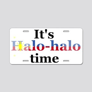 It's Halo Halo Time Aluminum License Plate