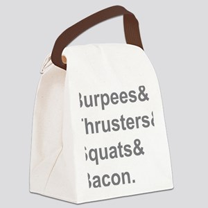 Burpees Thrusters Squats Bacon Canvas Lunch Bag