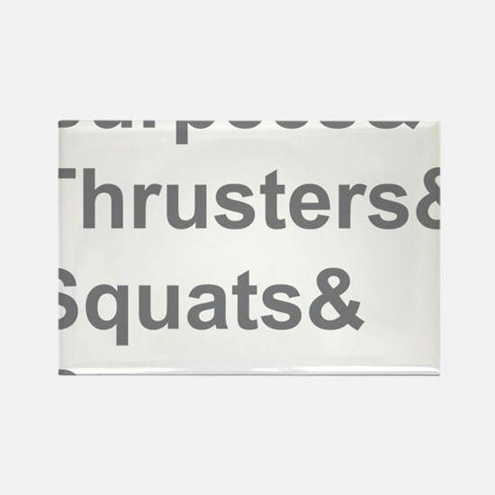 Burpees Thrusters Squats Bacon Rectangle Magnet