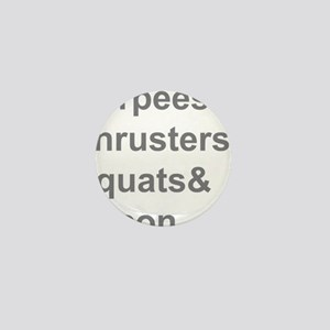 Burpees Thrusters Squats Bacon Mini Button