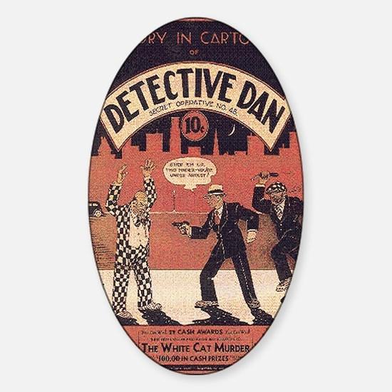 Dectective Dan Sticker (Oval)
