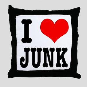 I Heart (Love) Junk Throw Pillow