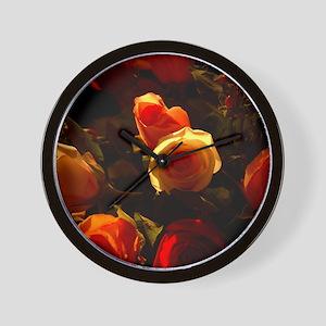Roses I Wall Clock