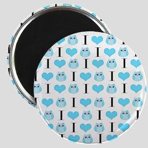 Blue Love Owls Magnet