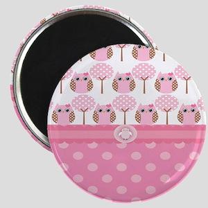 Pink Owls Magnet