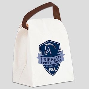 Friesian Sporthorse Logo Canvas Lunch Bag