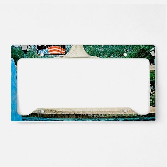 Opryland Postcard License Plate Holder