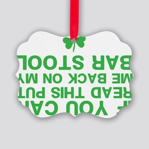 Funny St. Patricks Day Picture Ornament