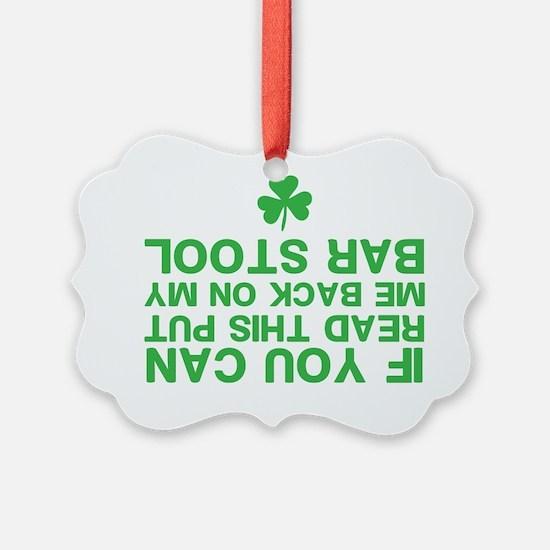 Funny St. Patricks Day Ornament