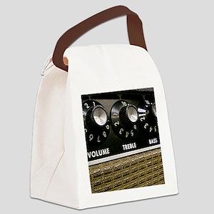 Vintage Amplifier Canvas Lunch Bag