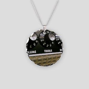 Vintage Amplifier Necklace Circle Charm