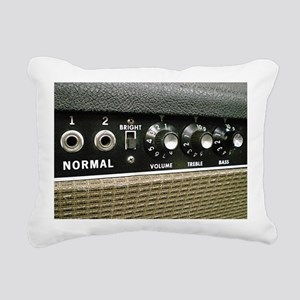 Tube Amp Panel Rectangular Canvas Pillow