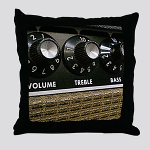 Vintage Amplifier Throw Pillow