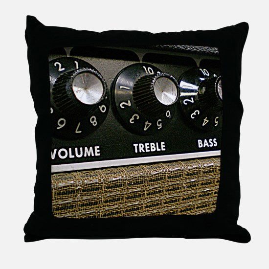 Vintage Amplifier Throw Pillow