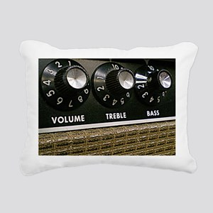 Vintage Amplifier Rectangular Canvas Pillow
