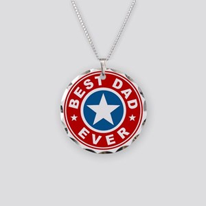 Best Dad Ever Necklace Circle Charm