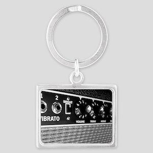 Vintage Amplifier Control Panel Landscape Keychain