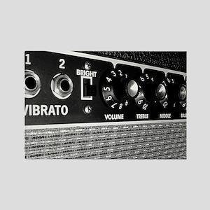 Vintage Amplifier Control Panel Rectangle Magnet