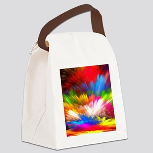 Abstract Clouds Canvas Lunch Bag