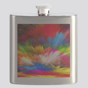 Abstract Clouds Flask