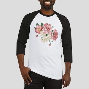 Pink Roses Flower Baseball Jersey