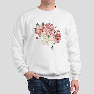 Pink Roses Flower Sweatshirt