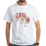 Flowers Mens Classic White T-Shirts