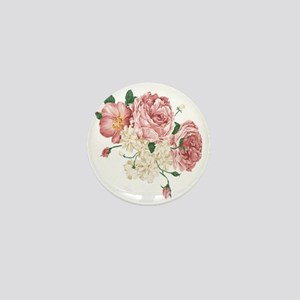 Pink Roses Flower Mini Button