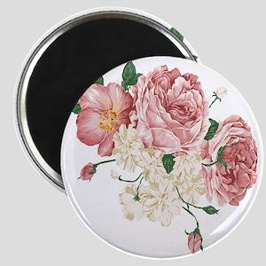 Pink Roses Flower Magnet