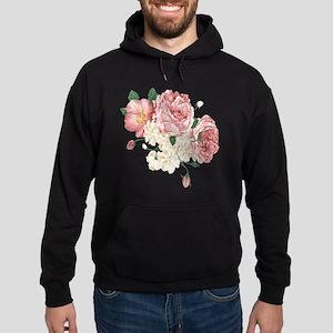 Pink Roses Flower Hoodie (dark)