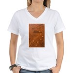 Wolf Tracks on Geyser Basin Women's V-Neck T-Shirt