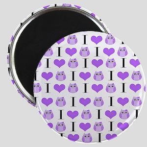 Purple Love Owls Magnet