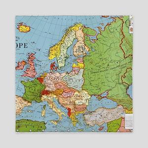 Map of Europe Queen Duvet