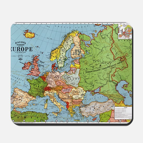 Map of Europe Mousepad