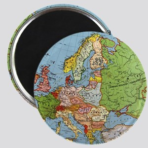 Map of Europe Magnet